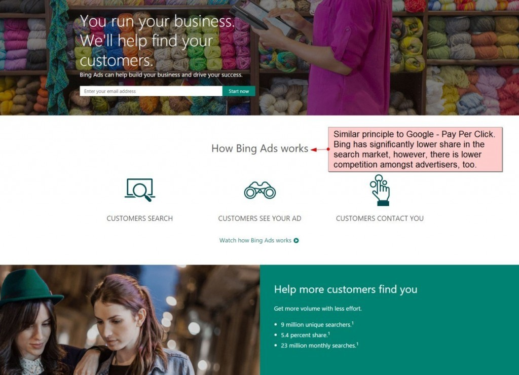 More About PPC in Bing - Lower Competition Leads Usaully to Lower Costs per Click
