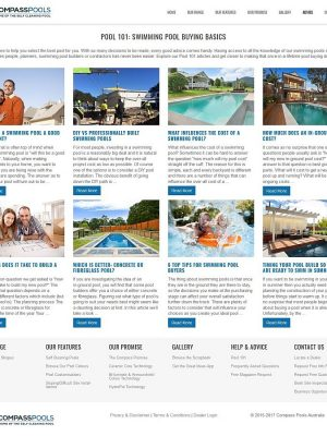 Building Nice Content Listings with Content Views - Compass Pools Australia Pool 101 Swimming Pool Buying Basics