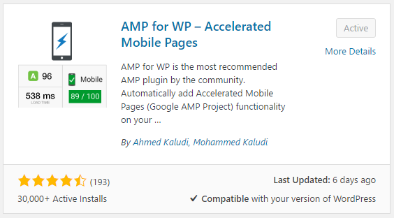 AMP for WP is the best WordPress plugin for AMP